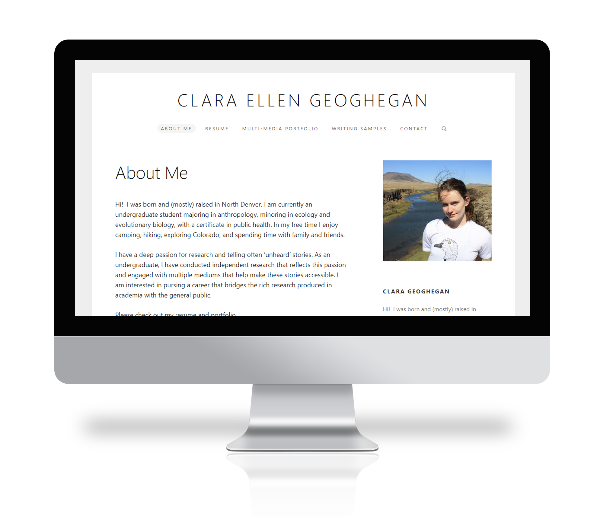 Picture of portfolio by Clara Geoghegan